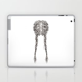 Parted French Braids Laptop & iPad Skin
