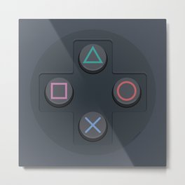 PlayStation - Buttons Metal Print
