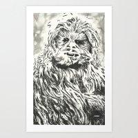 Chewbacca, Chewy, Wookie Art Print