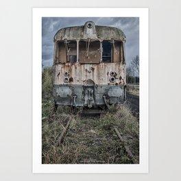 Lost train Art Print