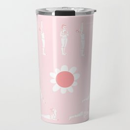 sun flower salutation Travel Mug