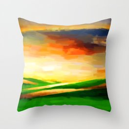 Colorful Sky - Painting Style Throw Pillow
