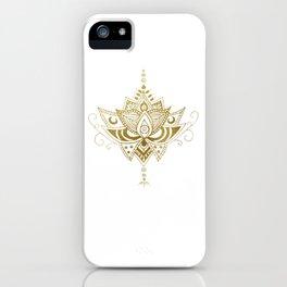 Gold Lotus iPhone Case