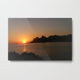 Sunset at Arpoador, Rio de Janeiro  Metal Print