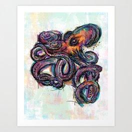 Octo Lines Art Print