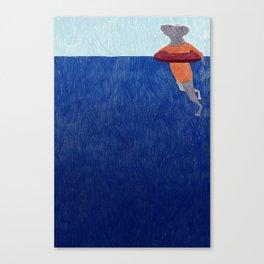 Swimming September Canvas Print