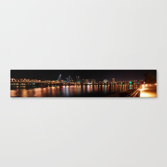 reflections of portland Canvas Print