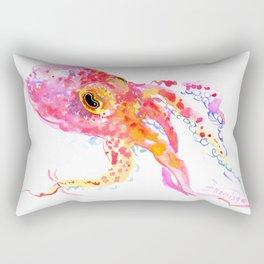 pink Octopus Rectangular Pillow