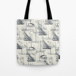 sailing the seas mode Tote Bag