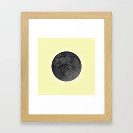 BLACK MOON + CANARY YELLOW SKY Framed Art Print