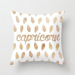 astrología: capricorn Throw Pillow