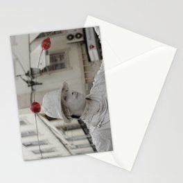 Artist white red Stationery Cards