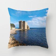 Fort Royal des Îles de Lérins Throw Pillow