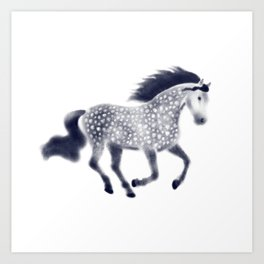 Dapple horse Art Print