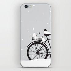 Bicycle & snow iPhone & iPod Skin