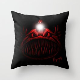 The Light Is Hungry Throw Pillow