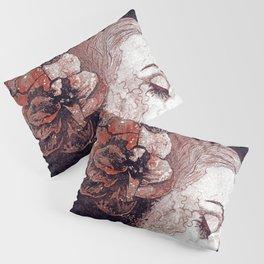 Obey Me: Blood (graffiti flower woman profile) Pillow Sham