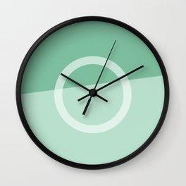 Teal Slice Wall Clock