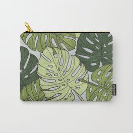 Monstera Hexagon Pattern Carry-All Pouch