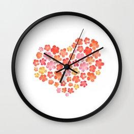 Hearts & Posies Wall Clock