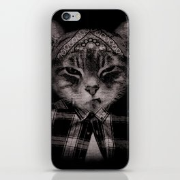 Gangster Cat (Platinum) iPhone Skin