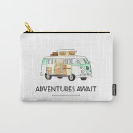 Adventures Await - Road Trip life Carry-All Pouch