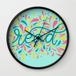 Reading is Beautiful Wall Clock