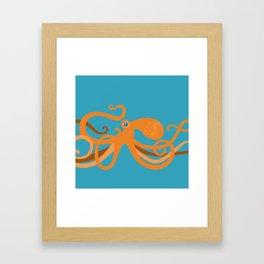 Octopus Swirl Framed Art Print
