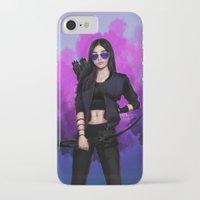 kate bishop iPhone & iPod Cases featuring Kate Bishop by Meder Taab