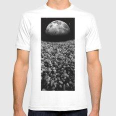 Spacewalk MEDIUM Mens Fitted Tee White