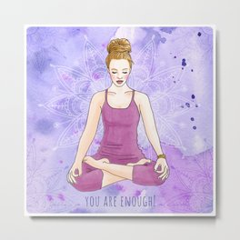 Woman in YOGA Lotus pose Metal Print