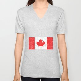 Canada flag , Vintage Canadian Flag  Unisex V-Neck