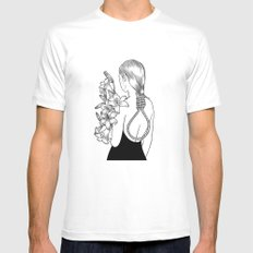 Too Young To Die Mens Fitted Tee MEDIUM White