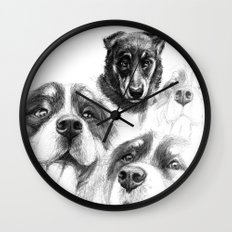 Dogs  sk128 Wall Clock