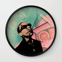 stevie nicks Wall Clocks featuring Stevie by Liall Linz