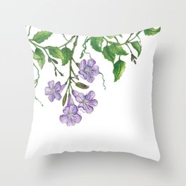Trumpet blooms Throw Pillow