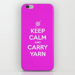 Keep Calm and Carry Yarn - Fuschia Solid - Crochet iPhone Skin