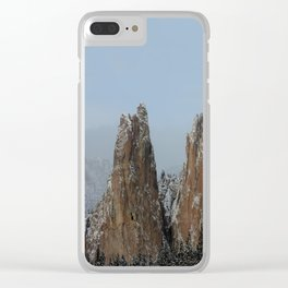 Smith Rock Snowbound Clear iPhone Case