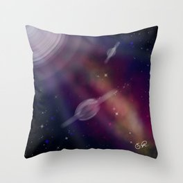 On My Space Throw Pillow