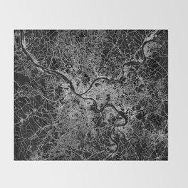 pittsburgh map Throw Blanket