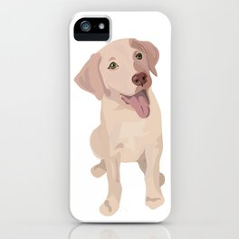 Golden (Lab) Girl iPhone Case