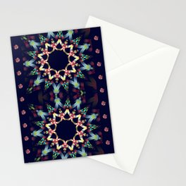 Ice blue and winter red fantasy star Stationery Cards