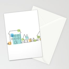 happy town Stationery Cards