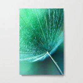 green Umbrella Metal Print