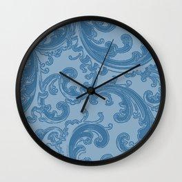 Retro Chic Swirl Denim Wall Clock