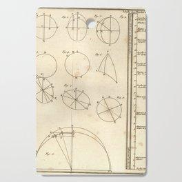 Jérôme Lalande's Astronomie (1771) - Geometric Calculations regarding Planetary Bodies 7 Cutting Board