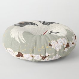 Japanese Crane Floor Pillow