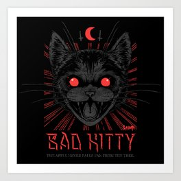 BAD KITTY Art Print
