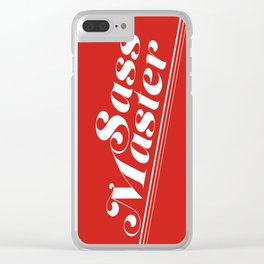 Sass Master Red Clear iPhone Case