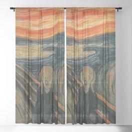 THE SCREAM - EDVARD MUNCH Sheer Curtain